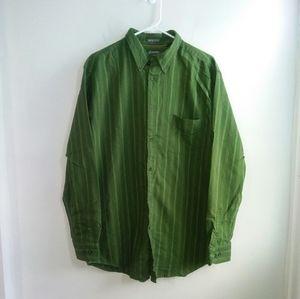 St. Johns Bay Green Striped Shirt